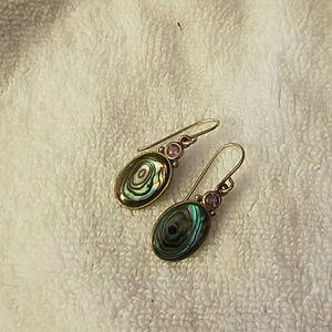 Jewelry - Sterling Silver Abalone Drop Earrings